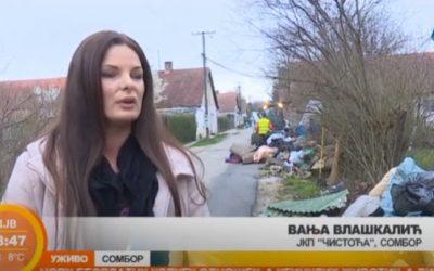 Razgovor sa Vanjom Vlaškalić povodom odnošenja kabastog otpada u Somboru